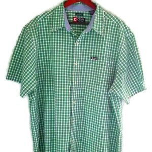 Chaps Men's B&T Green/White Plaid Shirt, Size 2XB